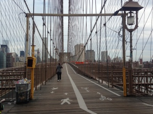 Brooklyn Bridge, (nearly) empty